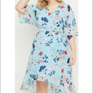 Lane Bryant Floral Dress with tie at waist